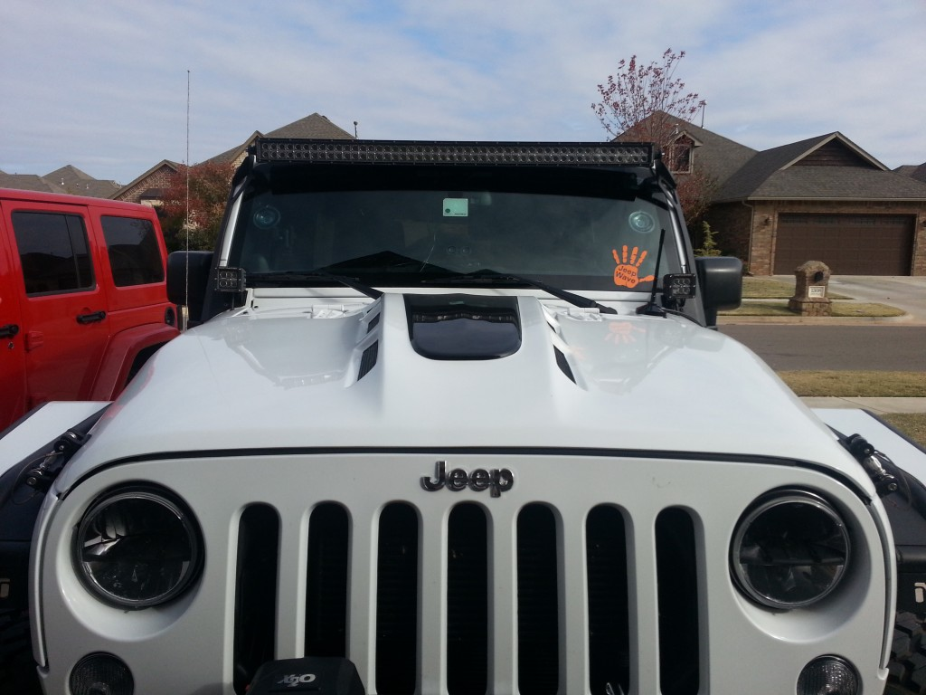 Jeep JK vented Hood