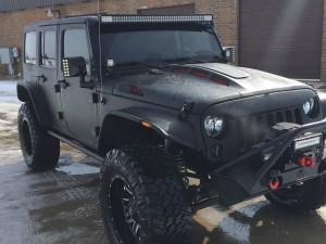 Jeep JK Hood Line-x Poison Spyder