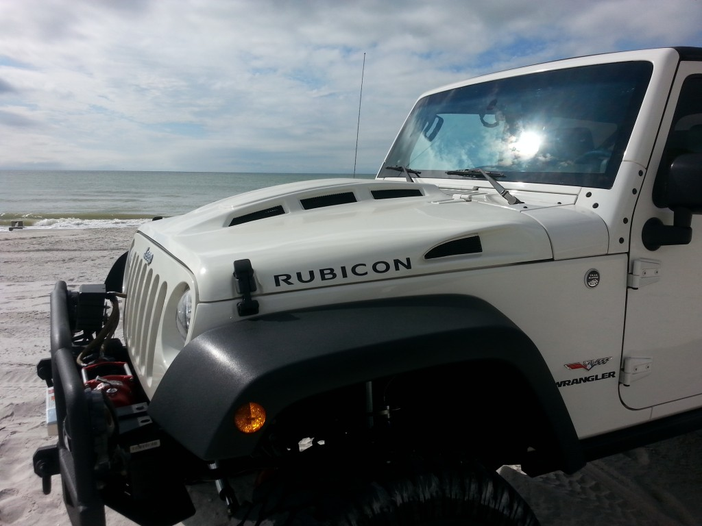 Jeep Wrangler vented hood