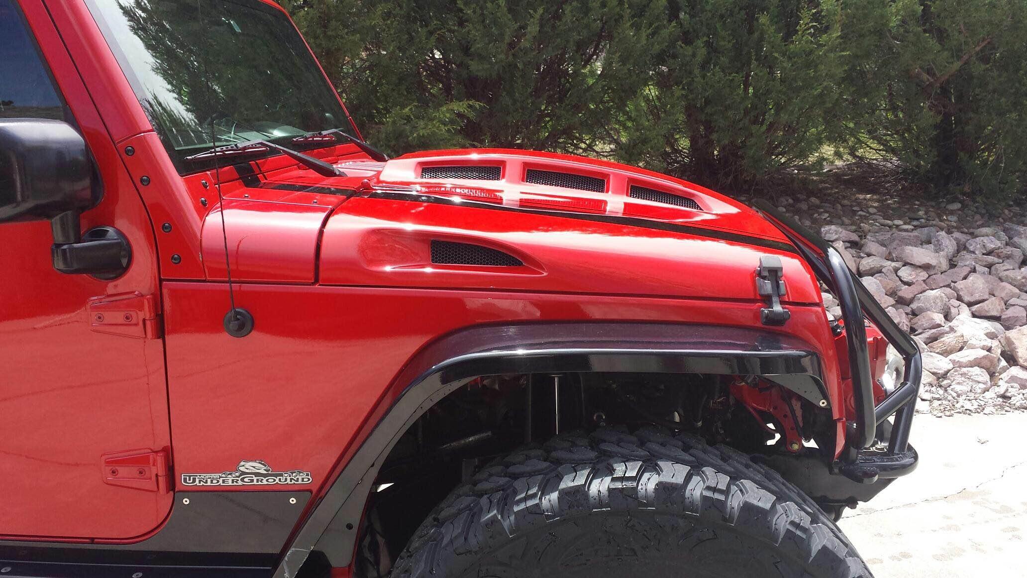 Jeep Wrangler Jk Heat Expulsion Hood Release Totl Light Weight