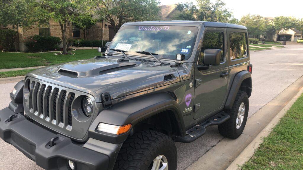 2 door Jeep JL Hood